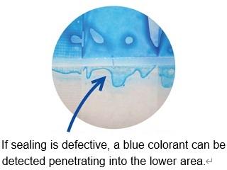 HEAT SEAL CHECKER BLUE